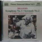 ティントナーのブラームス第3交響曲 素朴にして質実剛健